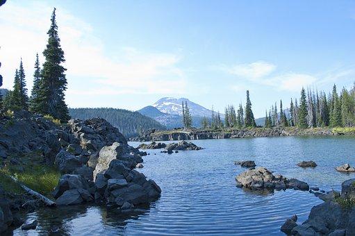 Lake, Central Oregon, Sparks Lake, Scenic, Mountains