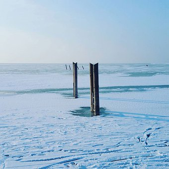 Lake, Winter, Snow, Ice, Landscape, Nature, Water, Sky