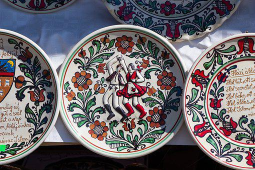 Hungarian, Plate, Handicraft, Transylvania, Szekler