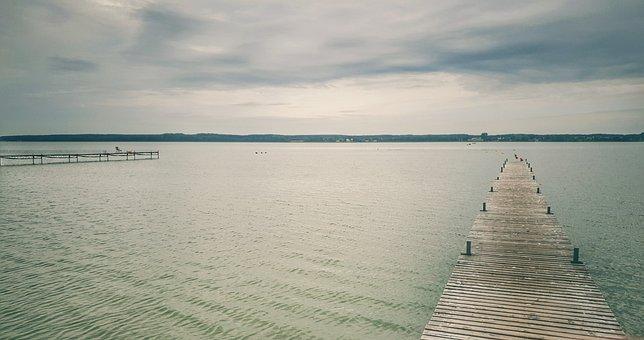 Lake, Water, Zbaszyn, Poland, Quiètude, Zen, Bridge