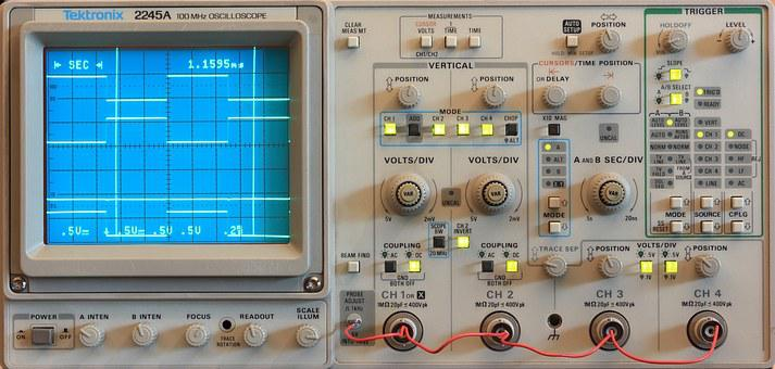 Tektronix, Scope, Oscilloscope, 2245a, Measure