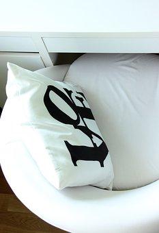 Armchair, Pillow, Work Desk, Love, White, Office, Rest