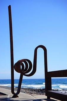 Art, Artwork, Sculpture, Metal, Beach Promenade