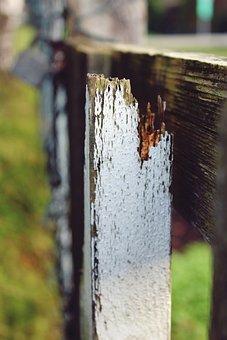 Wooden Slat, Batten, Post, Wood, Weathered, Broken
