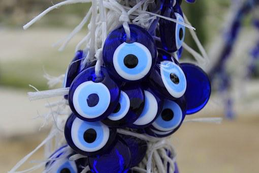 Evil Eye, Protection, Bead, Glass, Cobalt Blue, Amulet
