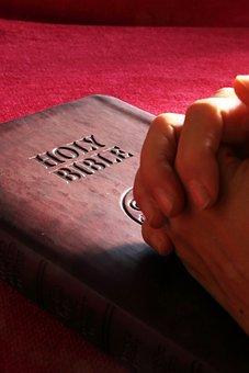 Bible, Holy, Hands, Pray, Prayer, Religion, Book, God
