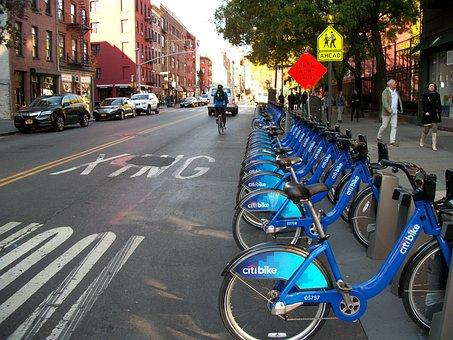Bike Rental, Rental Bikes, Rental, Street, Bikes