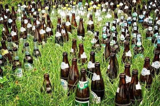 Beer Bottles, Bottles, Beer, Drink, Brown, Bottleneck