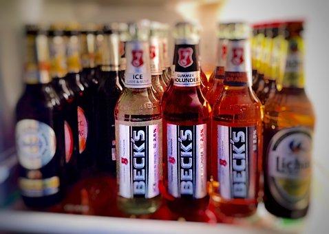 Drink, Beer, Refrigerator, Alcohol, Beer Bottle, Brown