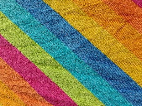 Bath Towel, Terry, Colorful, Stripes, Striped, Fluffy