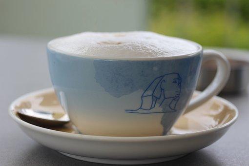 Café Au Lait, Cup, Milchschaum, Coffee, Drink