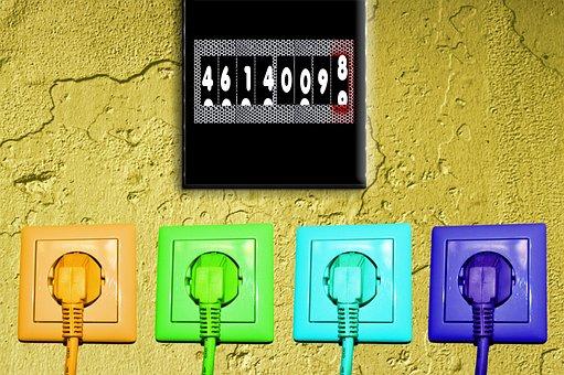 Socket, Plug, Current, Meter Box, Energy, Design