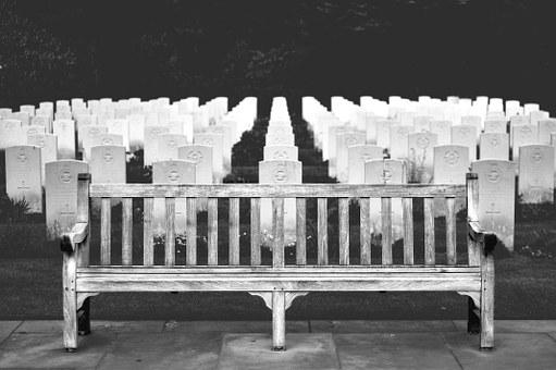 Life, Beauty, Scene, Death, Die, Cemetery, Bench