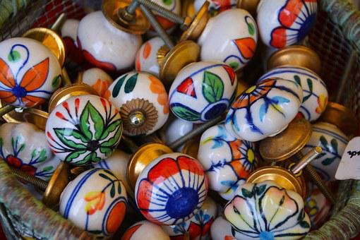 Door Knobs, Colored Balls, Knob, Colorful, Decoration