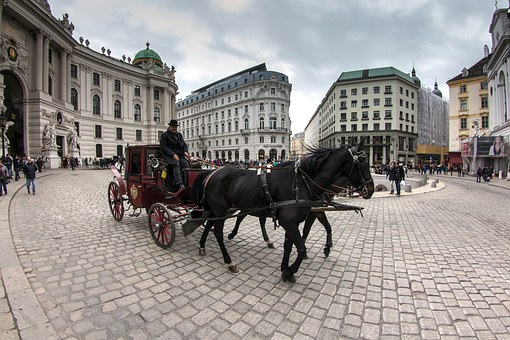 Vienna, Old Town, Downtown, Fiaker, Pedestrian Zone