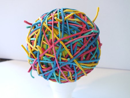 Rubber Bands, Colour, Ball, Elastic, Green, Accessory