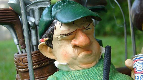 Golf, Golfer, Figure, Angry, Frustrated, Recreation