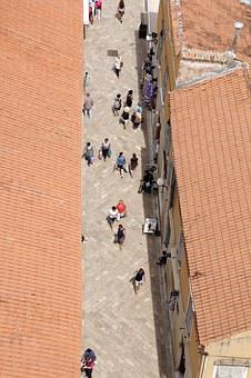Perspective, From Above, Pedestrian Zone, Small, City