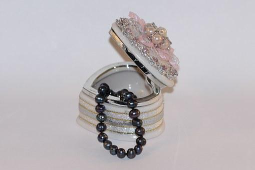 Jewelry, Pearl, Box, Necklace, Wedding, Gift, Trinket