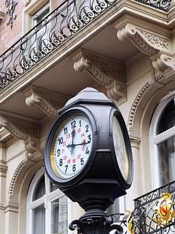 Grandfather Clock, Baden Baden, Normal Time, Public