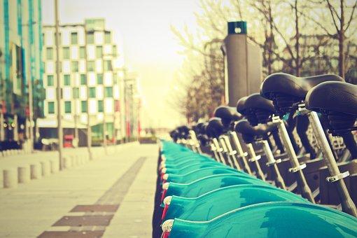 Dublin, Bikes, Rental, Bicycles, Urban, Grunge, Streets