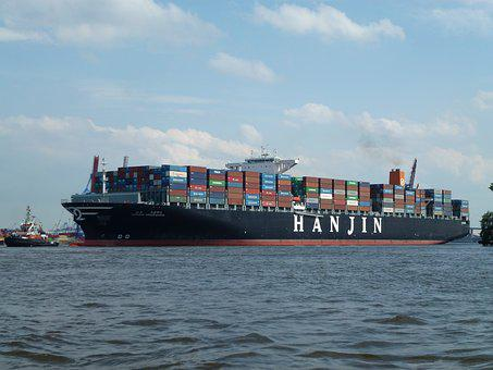 Container, Ship, Hamburg, Cargo, Transport, Freighter