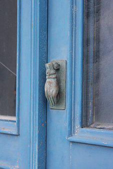 Door, Wood, Metal, Key, Home, Knob, Hand