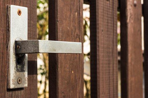 Handle, Gate, Wood, Iron, Travel, Path, Long Way