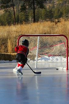 Hockey, Outdoor Rink, Net, Goal, Kid, Rink