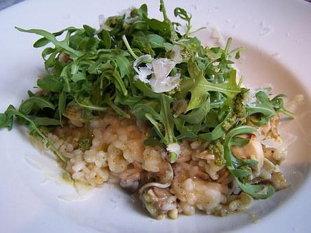 Risotto, Food, Italian Food, Rice, Rocket, Meal, Dinner