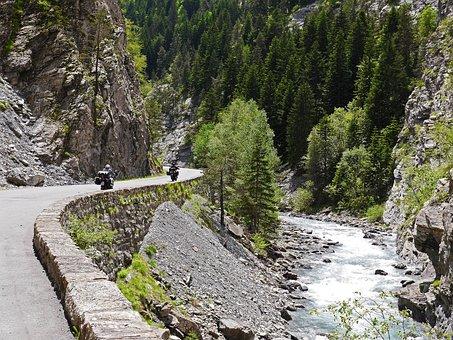 Gorge, Le Bachelard, Maritime Alps, Pass Road, Rapids
