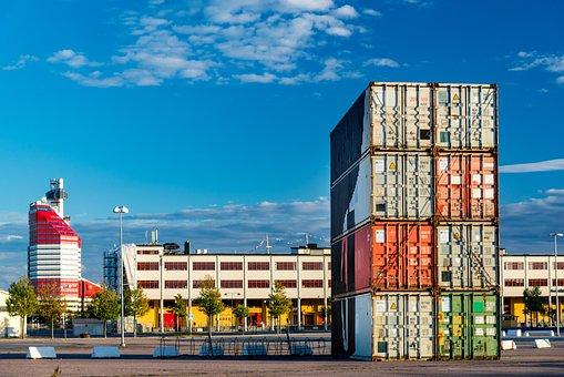 Container, Lipstick, City, Gothenburg, Move, Port