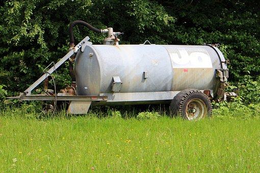 Liquid Manure Spreader, Liquid Manure, Barrel, Tank