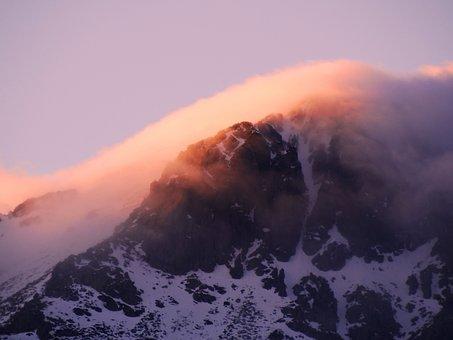 Mischievous Pink, Sunset, Mountain, Maliciously