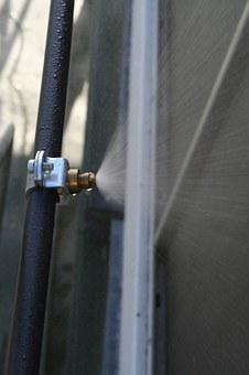 Water, Condenser, Tube, Spray, Mist, Nozzle, Metal