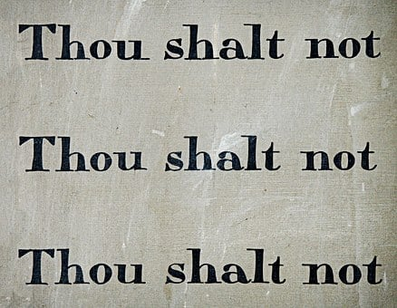 Commandment, Thou, Shalt, Not, Law, Rule, Tablet, Ten