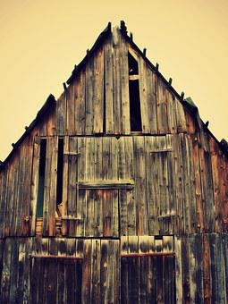 Log Cabin, Hut, Boards, Old, Home, Wood, Grain
