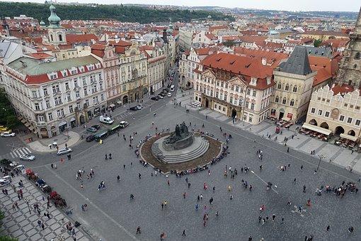Pedestrian Zone, Space, Prague, Old Town, City