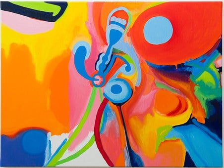 Painting, Fluidity, Elastic, Abstract, Flow, Bright