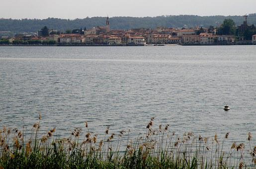 Arona, Panorama, Italy, Lake Maggiore, Town