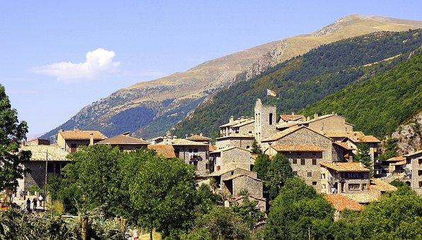 People, Mountain, Castellar De'hug, Landscape, Ceilings