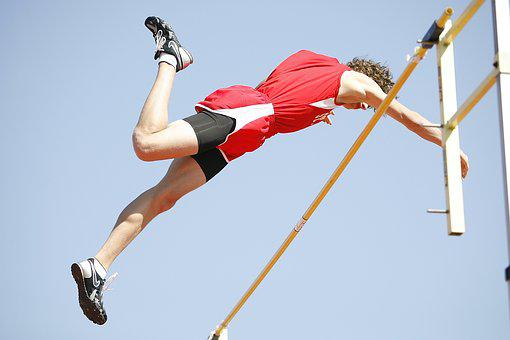 Pole Vaulter, Athlete, Pole, Vault, Man, Competition