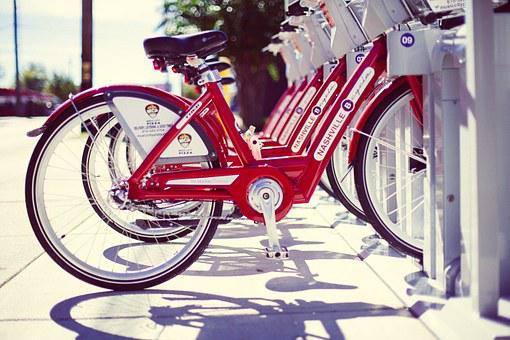 Rental Bikes, Bicycles, Bikes, Red, Rental, Nashville