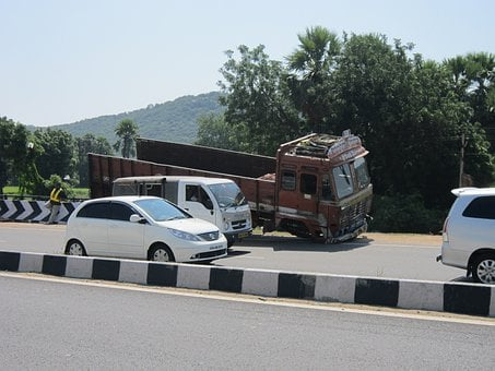 Highway, Accident, Truck, Road, Traffic, Transportation