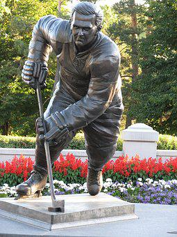 Maurice Richard, Statue, Hockey Player, Rocket