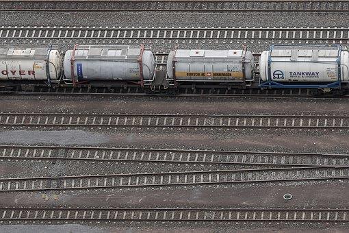 Gleise, Railway Tracks, Train, Wagon, Seemed