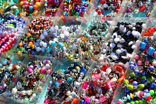 Jewellery, Gems, Glass Beads, Necklaces, Spain