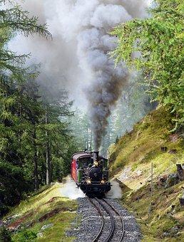 Steam Locomotive, Narrow Gauge, Rack Railway, Furka