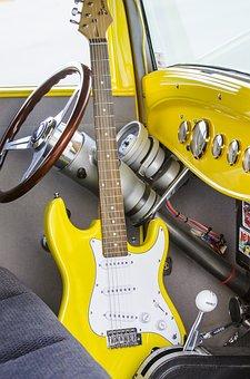 Steering Wheel, Classic Car, Electric Guitar, Guitar