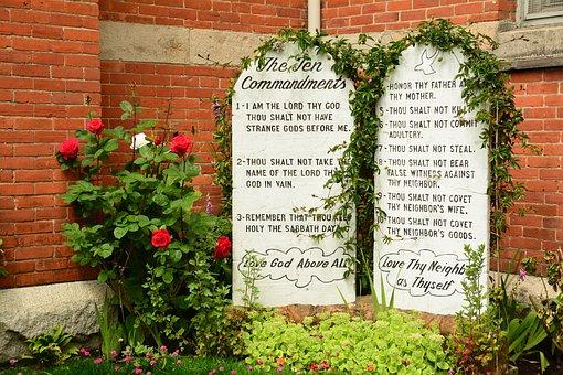 Stone Tablets, Ten Commandments, Religion, Rules, Stone